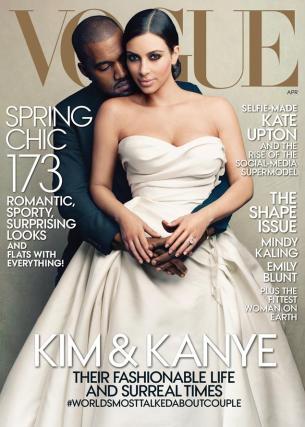 Kim Kardashian, Kanye West, VOGUE Cover, Kim Kanye Vogue Cover, Fashion, Style, Anna Wintour, Bad Vogue Cover, Kimye Vogue Cover, TheBenClark